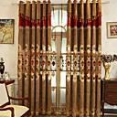 preiswerte Luxusvorhänge-Verdunkelung Vorhänge drapiert zwei Panele 2*(W140cm×L259cm) Gelb / Schlafzimmer