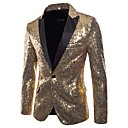 cheap Latin Dance Wear-Men's Basic Punk & Gothic Blazer-Solid Colored,Sequins