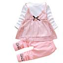 povoljno Kompletići za bebe-Dijete Djevojčice Osnovni Jednobojni Dugih rukava Komplet odjeće / Dijete koje je tek prohodalo