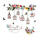 billige Vægklistermærker-Dekorative Mur Klistermærker - Fly vægklistermærker / Animal Wall Stickers Dyr / Blomstret / Botanisk Soveværelse / Indendørs