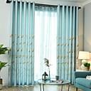 billige Gjennomsiktige gardiner-gardiner gardiner Soverom Geometrisk Polyester Reaktivt Trykk