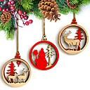 preiswerte Weihnachtsparty Utensilien-Mehre Accessoires Holz 3 Stück Weihnachten / rustikales Theme