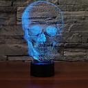 povoljno Unikatna rasvjeta-1pc 3D noćno svjetlo Promjena USB Cool / Prijelaz boje 5 V