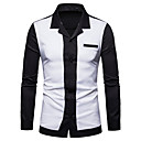 cheap Men's Sneakers-Men's Business / Basic Shirt - Solid Colored / Color Block Patchwork