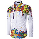 cheap Men's Athletic Shoes-Men's Slim Shirt - Floral Vintage Style / Long Sleeve