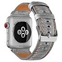 זול נוחות בנסיעות-Calf Hair צפו בנד רצועה ל Apple Watch Series 3 / 2 / 1 חום / אפור 23cm / 9 אינץ ' 2.1cm / 0.83 אינצ'ים