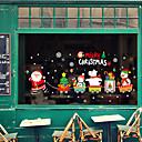 baratos Adesivos de Parede-Filme de Janelas e Adesivos Decoração Animal / Natal Personagem PVC Adesivo de Janela / Adorável / Engraçado