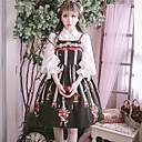 preiswerte Lolita Accessoires-Niedlich Lolita Kleid Gemischte Farbe nette Art Weiblich Kleid Cosplay Schwarz Ärmellos Ärmellos Midi Halloween Kostüme