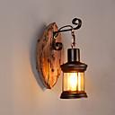 preiswerte Glühlampen-Kreativ Retro Schlafzimmer / Shops / Cafés Holz / Bambus Wandleuchte 110-120V / 220-240V