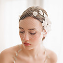 cheap Jewelry Sets-One-tier Vintage Style / Classic Style Wedding Veil Blusher Veils with Petal / Solid Tulle