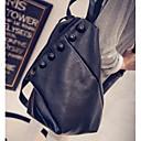 hesapli Sırt Çantaları-Kadın's Çantalar PU Okul Çantası Düğme için Okul Bahar Siyah