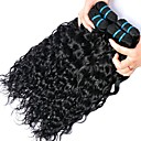 cheap Human Hair Weaves-4 Bundles Peruvian Hair Water Wave Human Hair Natural Color Hair Weaves / Hair Bulk / Bundle Hair / Human Hair Extensions 8-28 inch Natural Color Human Hair Weaves Women / Extention / Best Quality