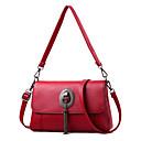 ieftine Genți Umeri-Pentru femei Genți PU Umăr Bag Buton Culoare solidă Roz Îmbujorat / Mov / Roșu Vin