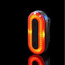 abordables Eclairage de Vélo et sécurité-LED Eclairage de Velo Imperméable Eclairage de Vélo Arrière ECLAIRAGE ARRIERE LED Cyclisme Imperméable Portable Professionnel Lithium-ion polymère 50 lm Rechargeable Rouge Camping / Randonnée / ABS