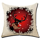 cheap Women's Boots-Pillow Cover Christmas Cotton Fabric Square Cartoon / Novelty Christmas Decoration