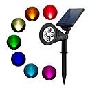 billige Pathway Lights-1pc 2 W plen Lights Vanntett / Solar / Dekorativ RGB 3.7 V Utendørsbelysning / Courtyard / Have 4 LED perler