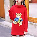 tanie Spódniczki dla dziewczynek-Dzieci Dla dziewczynek Aktywny / Moda miejska Codzienny / Wyjściowe Patchwork Długi rękaw Długie Jedwab wiskozowy Bluzy Czarny 140