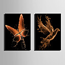 cheap Prints-Print Rolled Canvas Prints / Stretched Canvas Prints - Abstract / Animals Modern