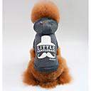 preiswerte Hundekleidung-Hunde / Katzen Pullover Hundekleidung Slogan Grau / Rot Baumwolle Kostüm Für Haustiere Unisex Sport und Freizeit / Lässig / Alltäglich