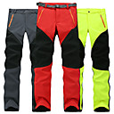cheap Hiking Trousers & Shorts-Men's Women's Hiking Pants Softshell Pants Outdoor Waterproof Lightweight Windproof Fleece Lining Autumn / Fall Winter Softshell Bottoms Hiking Climbing Camping Red Green Grey XL XXL XXXL / Stretchy
