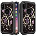 halpa iPhone kotelot-Etui Käyttötarkoitus Apple iPhone XS / iPhone XR / iPhone XS Max Iskunkestävä / Paljetti Takakuori Tekojalokivi / Kukka Kova PC