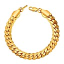 cheap Men's Bracelets-Men's Thick Chain Chain Bracelet - Fashion, Hip-Hop Bracelet Black / Silver / Rose Gold For Gift Daily