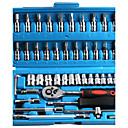 preiswerte USB Kabel-46-teiliger Satz 6,3-mm-Steckschlüssel mit metrischem Satz und Hardware-Kombinationswerkzeug für Autoreparaturwerkzeuge