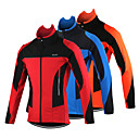 cheap Cycling Pants, Shorts, Tights-Arsuxeo Men's Cycling Jacket Bike Jacket Top Thermal / Warm Windproof Breathable Sports Patchwork Classic Polyester Spandex Fleece Winter Orange / Red / Blue Mountain Bike MTB Road Bike Cycling
