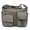cheap Shoulder Bags-Men's Bags Canvas Shoulder Bag Zipper Coffee / Army Green / Khaki