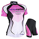 cheap Cycling Jersey & Shorts / Pants Sets-Nuckily Women's Short Sleeve Cycling Jersey with Shorts - Blue / Pink Bike Shorts / Jersey / Clothing Suit, Waterproof, Breathable, Ultraviolet Resistant, Waterproof Zipper, Reflective Strips