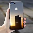 abordables Fundas para Teléfono & Protectores de Pantalla-Funda Para Apple iPhone X / iPhone 7 Plus Cromado / Ultrafina / Transparente Funda Trasera Un Color Suave TPU para iPhone X / iPhone 8 Plus / iPhone 8