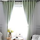 preiswerte Fenstervorhänge-Vorhänge drapiert zwei Panele 2*(W140cm×L259cm) Blau / Schlafzimmer