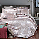 cheap High Quality Duvet Covers-Duvet Cover Sets Luxury Polyster Jacquard 4 PieceBedding Sets / 400 / 4pcs (1 Duvet Cover, 1 Flat Sheet, 2 Shams)