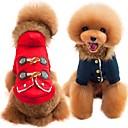 billige Hundeklær-Hunder / Katter Frakker Hundeklær Ensfarget Rød / Blå Bomull Kostume For kjæledyr Unisex Fritid / hverdag / Oppvarminger