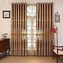 preiswerte Fenstervorhänge-Vorhänge drapiert Schlafzimmer Zeitgenössisch Baumwolle / Polyester Reaktivdruck