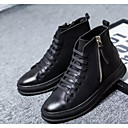 cheap Men's Boots-Men's Comfort Shoes PU(Polyurethane) Spring &  Fall Boots Booties / Ankle Boots Black