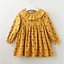 povoljno Haljine za djevojčice-Djeca Djevojčice slatko Cvjetni print Dugih rukava Haljina Blushing Pink 100