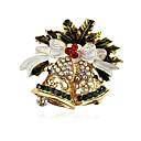 tanie Modne naszyjniki-Damskie Klasyczny Broszki - Kryształ górski Dzwonek Klasyczny Broszka Złoty Na Święta