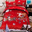 preiswerte Karikatur-Duvet-Abdeckungen-Bettbezug-Sets Weihnachten Polyester Reaktivdruck 3 StückBedding Sets / 3-teilig (1 Bettbezug, 2 Kissenbezüge)