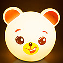 billige Negle Sticker-1pc LED Night Light AA Batterier Powered Tegneserie / Farveskiftende / Yndig <=36 V