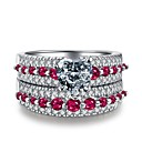 cheap Latin Dancewear-Women's Cubic Zirconia Vintage Style Band Ring - S925 Sterling Silver Flower Classic, Vintage, Elegant Jewelry Silver For Wedding Engagement Ceremony 6 / 7 / 8 / 9 / 10 2pcs