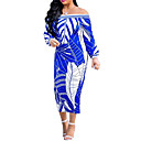 cheap Women's Sneakers-Women's Street chic / Sophisticated Bodycon Dress Tropical Leaf, Print
