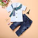 זול מיקרופונים-סט של בגדים כותנה שרוול ארוך אחיד בית הספר סגנון רחוב בנים ילדים / פעוטות
