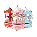cheap Birthday Home Decorations-1PCS Beautiful Fantasy Carousel Music Toy Merry-Go-Round With Flash Light Birthday Christmas Gift Kids Toys For Children Random Color