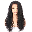 cheap Human Hair Wigs-Remy Human Hair Lace Front Wig Brazilian Hair Kinky Curly Black Wig Layered Haircut 150% Density with Baby Hair Natural Hairline For Black Women Unprocessed Black Women's Long Human Hair Lace Wig