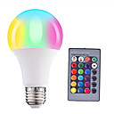 olcso LED okos izzók-1db 5W 500lm E26 / E27 LED gömbbúrás izzók A60(A19) 15 LED gyöngyök SMD 5050 Tompítható Dekoratív Távvezérlésű RGBW 85-265V