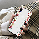 cheap Cell Phone Cases & Screen Protectors-Case For Apple iPhone X / iPhone 8 Plus Transparent Back Cover Flower Soft TPU for iPhone X / iPhone 8 Plus / iPhone 8
