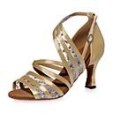 olcso Latin cipők-Női Latin cipők Szatén Szandál Flitter / Csat Kúpsarok Dance Shoes Fekete / Barna / Piros