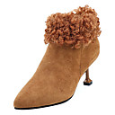 billige Damestøvler-Dame Fashion Boots PU Høst Fritid Støvler Liten hæl Støvletter Svart / Brun / Kakifarget