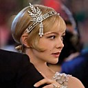 cheap Fans & Parasols-Women's Vintage / 1920s / The Great Gatsby Rhinestone / Fabric / Alloy Cubic Zirconia Headband Flower / All Seasons